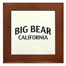 Big Bear California Framed Tile