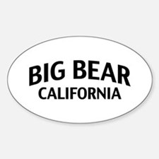 Big Bear California Sticker (Oval)