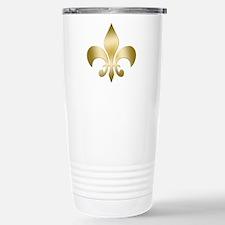 New Orleans Fleur Stainless Steel Travel Mug