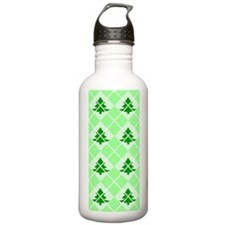 Christmas Tree Argyle Water Bottle