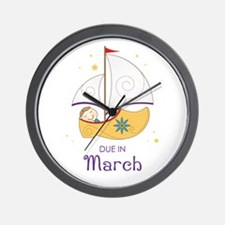 Land of Nod March Wall Clock