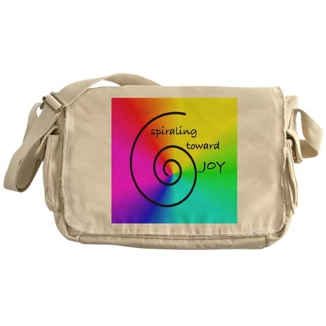Spiral Rainbow Prism on Squar Messenger Bag