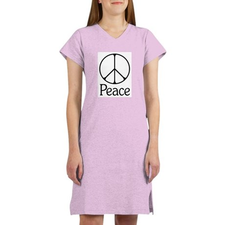 Elegant 'Peace' Sign Women's Nightshirt