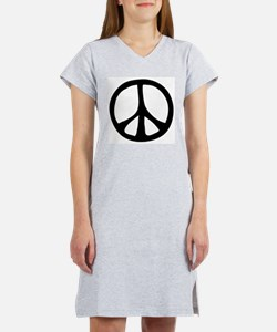 Flowing Peace Sign Women's Nightshirt