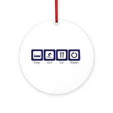 Sleep- Surf- Eat- Repeat Ornament (Round)