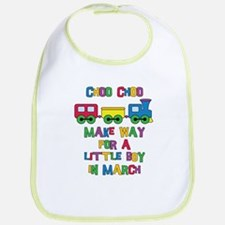Train Due March Bib