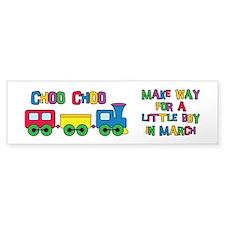 Train Due March Bumper Sticker