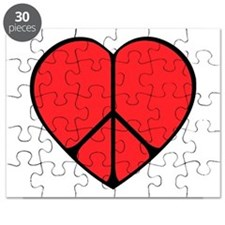 Peace Sign Heart Puzzle