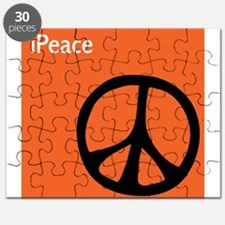 Orange iPeace Sign Puzzle