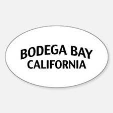 Bodega Bay California Sticker (Oval)