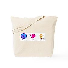 Peace Love and Ducks Tote Bag