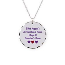 Grandma's House Necklace Circle Charm