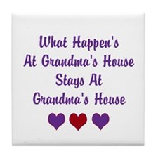 Grandma's House Tile Coaster