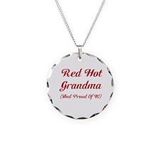 Hot Grandma Necklace Circle Charm