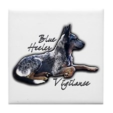 Blue Vigilance - Tile Coaster