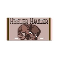 Heeler Hauler - Red - Aluminum License Plate