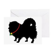 Christmas or Holiday Pomerani Greeting Card