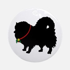 Christmas or Holiday Pomerani Ornament (Round)