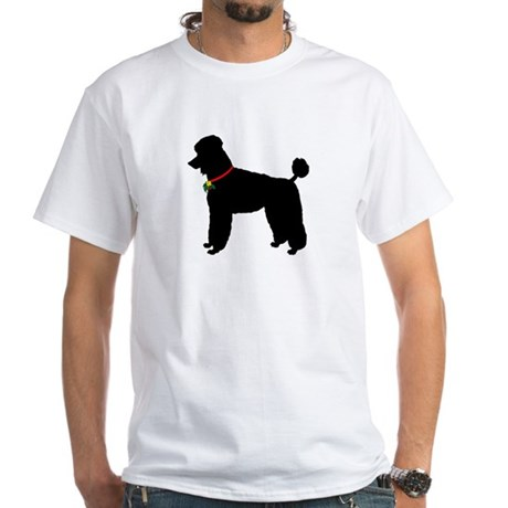Poodle Silhouette White T-Shirt