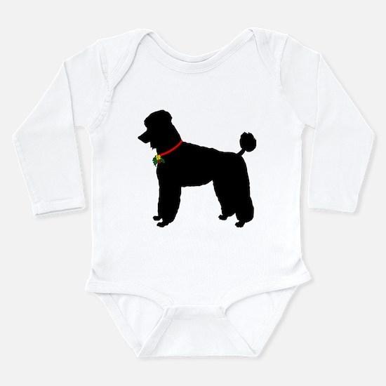 Poodle Silhouette Long Sleeve Infant Bodysuit