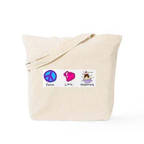 Peace Love and Ice Cream Sundaes Tote Bag