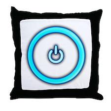 Computer Power Button IT Throw Pillow