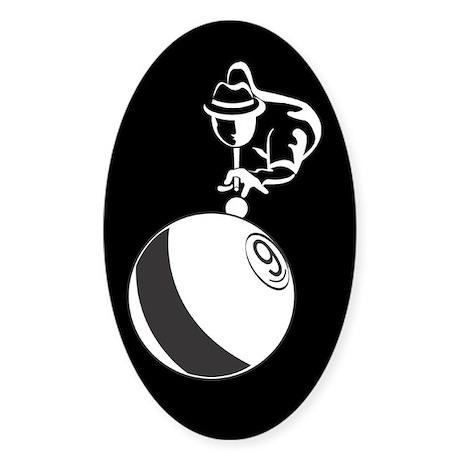 9-Ball Billiards Sticker (Oval)