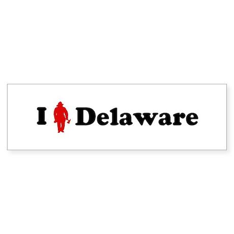 Delaware Firefigher Bumper Sticker