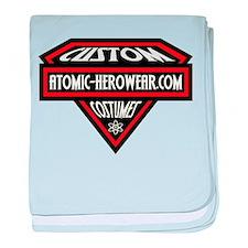 Atomic Hero Wear Logo baby blanket