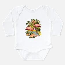 Pink Flamingos Long Sleeve Infant Bodysuit