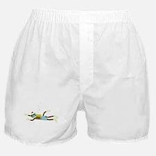 Sock Monkey Scuba Diver Boxer Shorts