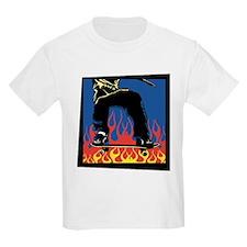 Flaming Skateboarder Kids T-Shirt