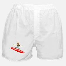 Sock Monkey Surfer Boxer Shorts