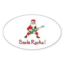 Santa Rocks! Decal