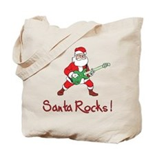 Santa Rocks! Tote Bag