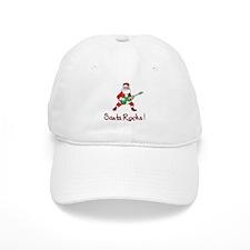 Santa Rocks! Baseball Cap