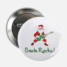 "Santa Rocks! 2.25"" Button (10 pack)"