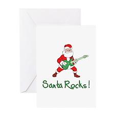 Santa Rocks! Greeting Card