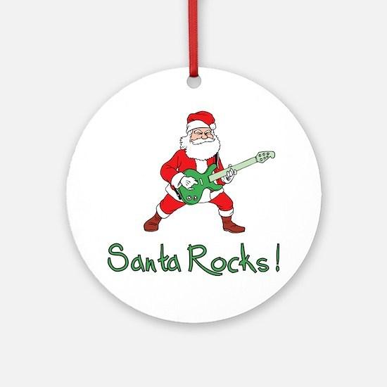 Santa Rocks! Ornament (Round)