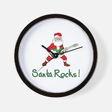 Santa Rocks! Wall Clock