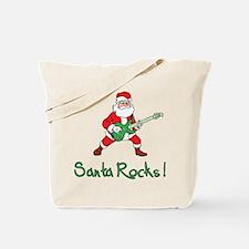 Santa Rocks! Tote Bag