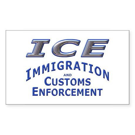 ICE - Immigration & Customs: Sticker (Rectangular