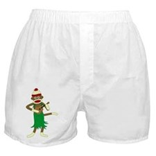 Sock Monkey Ukulele Boxer Shorts
