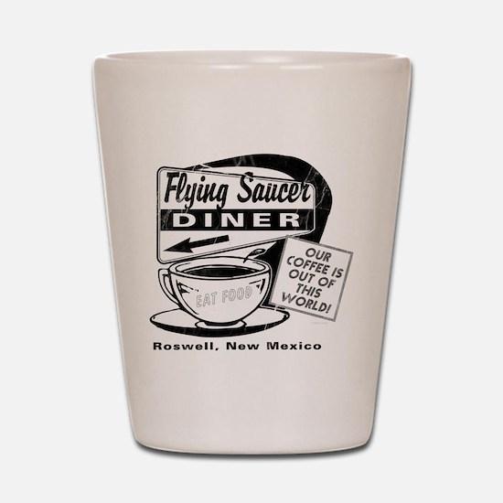 Flying Saucer Diner Shot Glass