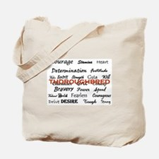 Funny Thoroughbred dressage eventing ottb Tote Bag