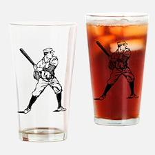 1890's Baseball Batter Drinking Glass