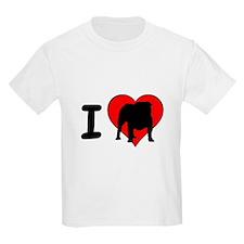 I Love Bulldogs T-Shirt