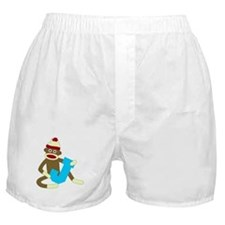 Sock Monkey Monogram Boy J Boxer Shorts