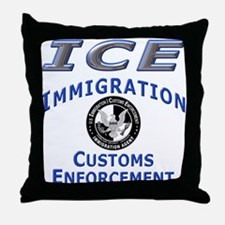 US Immigration & Customs:  Throw Pillow