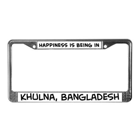 Happiness is Khulna License Plate Frame